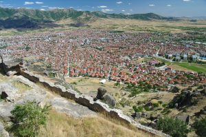 Mooi beeld van de stad Prilep