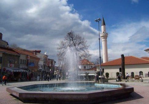 Fontein bij het centrum van Ohrid